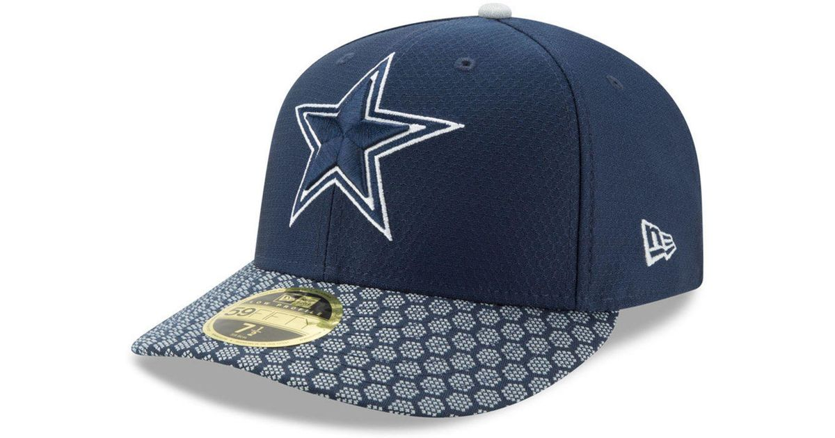 4679c15f5 KTZ - Blue Dallas Cowboys Sideline Low Profile 59fifty Fitted Cap for Men -  Lyst