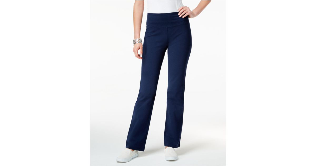 fc57f72ebef2c Style & Co. Petite Boot-cut Yoga Pants in Blue - Save 13% - Lyst