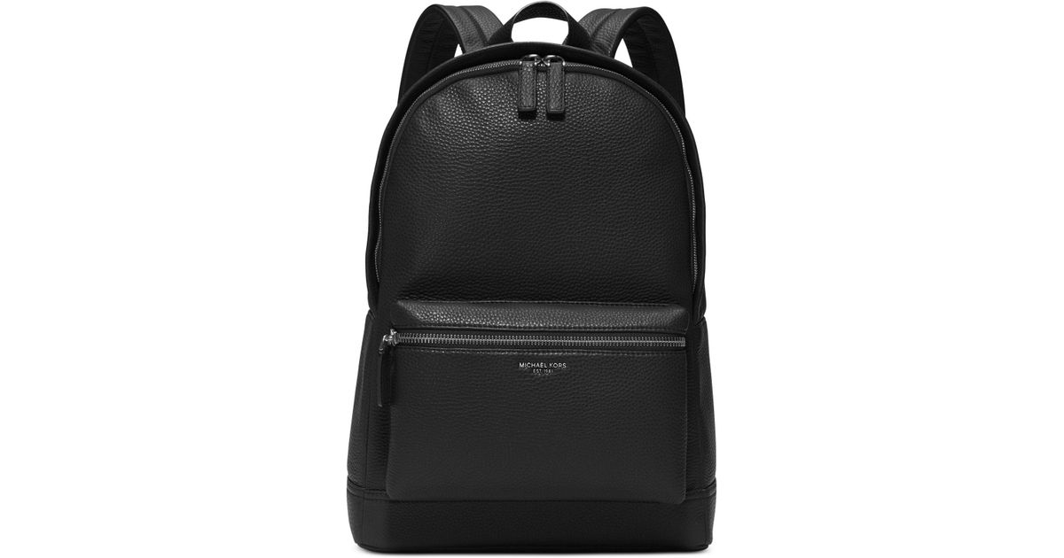 cbeaac1d96208a Lyst - Michael Kors Bryant Pebble Leather Backpack in Black for Men