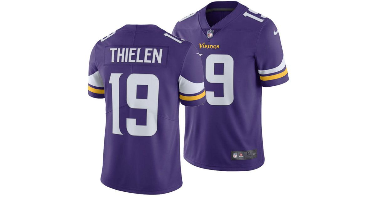 Lyst - Nike Adam Thielen Minnesota Vikings Vapor Untouchable Limited Jersey  in Purple for Men c6299a89a