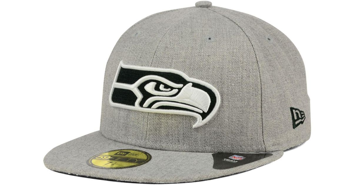 ... best price lyst ktz seattle seahawks heather black white 59fifty cap in  gray for men 16b20 f29eb434db2d