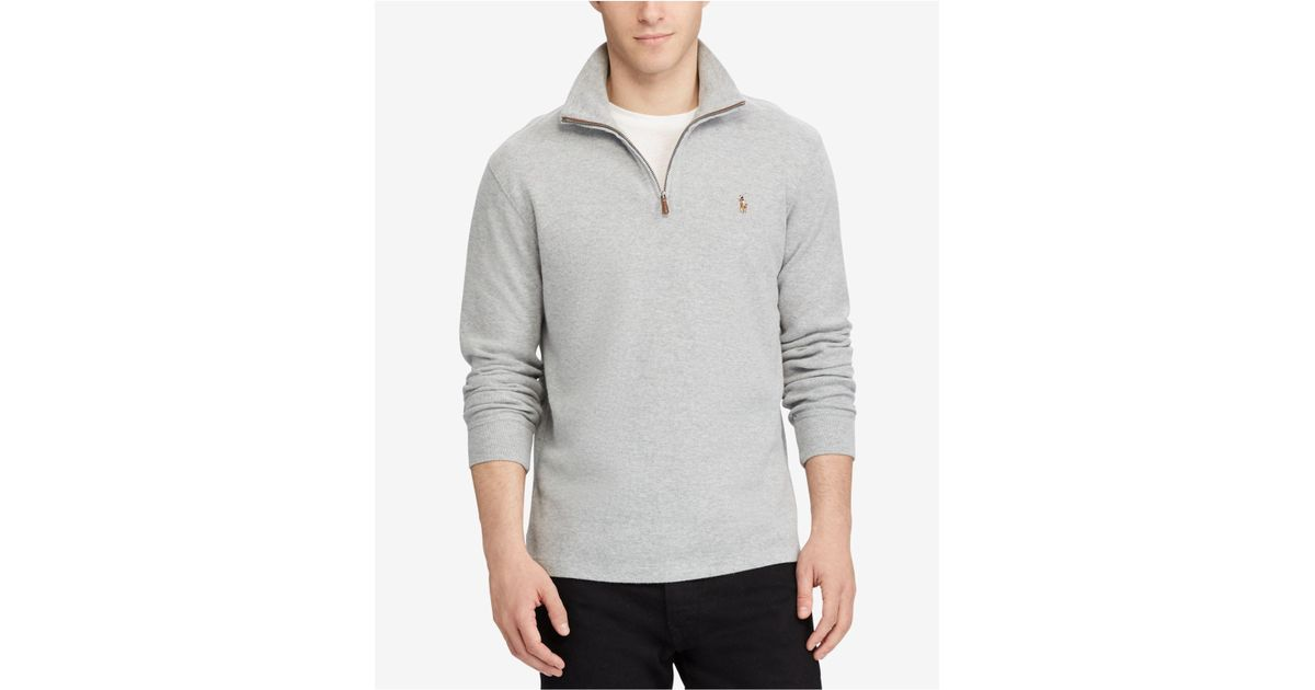0b77fb9a ... where to buy lyst polo ralph lauren mens estate rib mock neck pullover  for men 97746