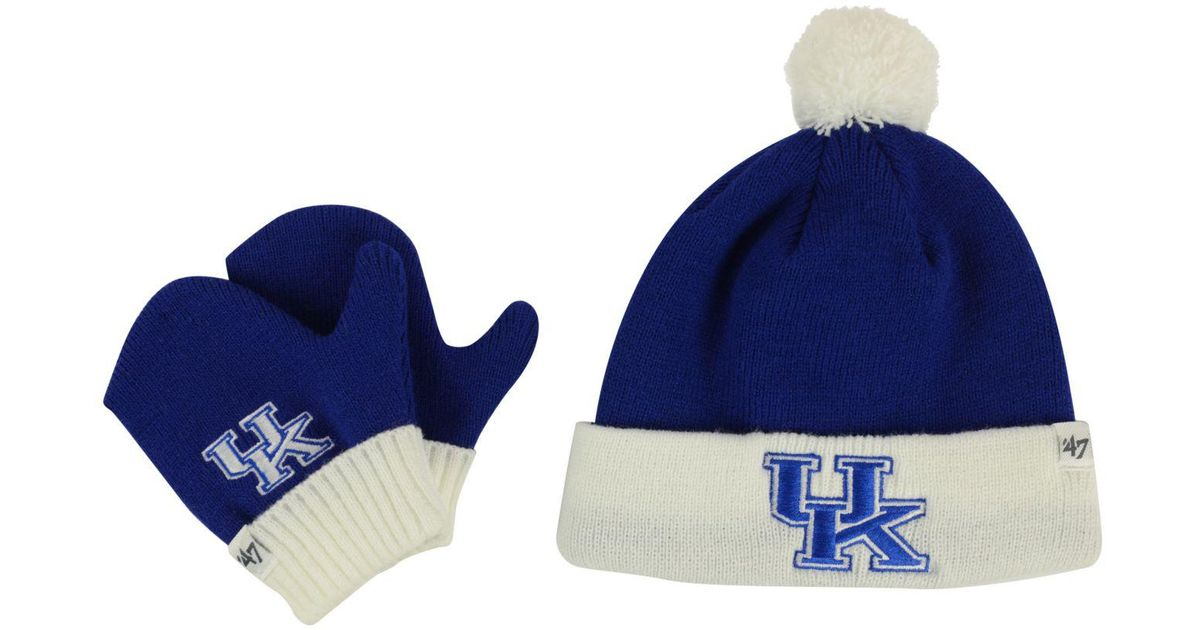 Lyst - 47 Brand Toddlers  Kentucky Wildcats Knit Hat And Mittens Set in Blue b611d2b122a9