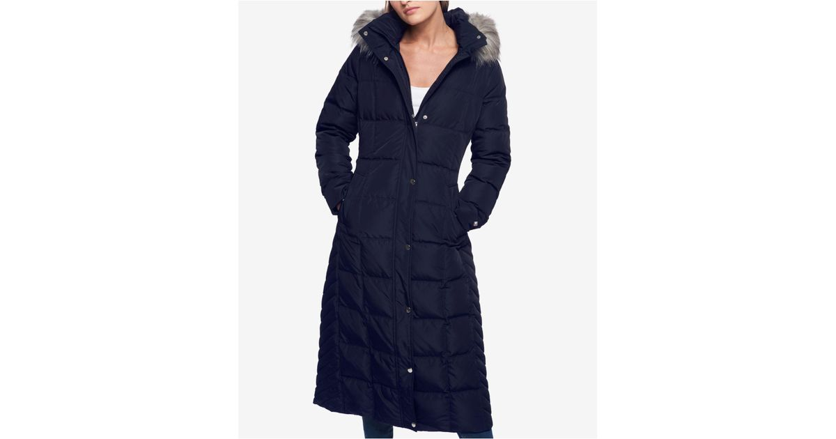 82a4fd21 Women's Women's Quilted Coat Box Hilfiger in in in Lyst Down Blue Tommy  qEzPO