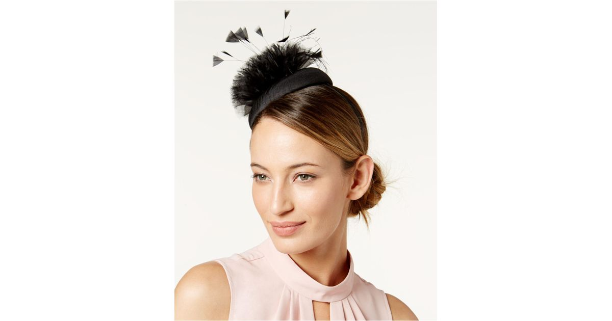 9d0a57673290d Lyst - August Accessories Embellished Fascinator in Black