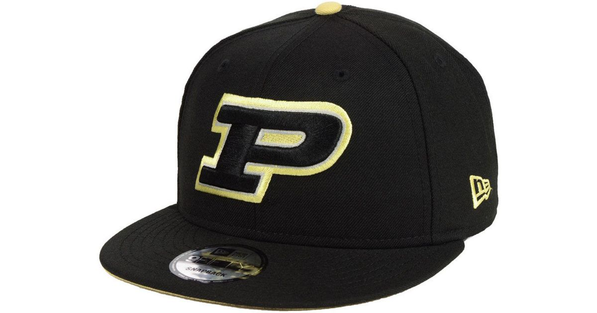 new concept 8fc5c 70a81 ... germany lyst ktz purdue boilermakers core 9fifty snapback cap in black  for men 9603d c0b64