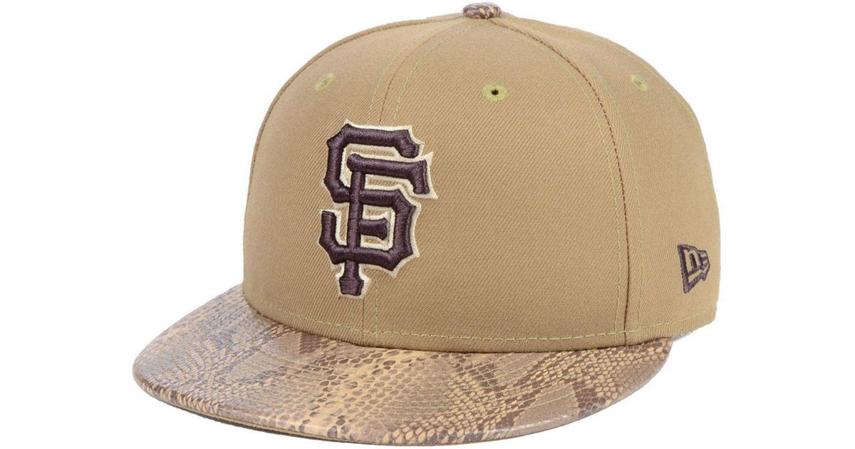 premium selection 563cc e883d KTZ San Francisco Giants Snakeskin Sleek 59fifty Fitted Cap in Natural for  Men - Lyst