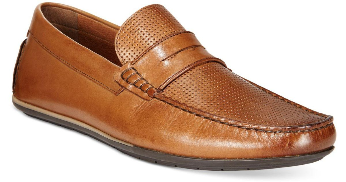 5bc7d05bb5002 Lyst - Alfani Men s Will Penny Drivers in Brown for Men