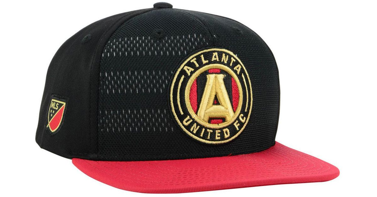 buy popular 5e12f 3ff42 ... czech lyst adidas atlanta united fc authentic snapback cap in black for  men c30ad 729ab