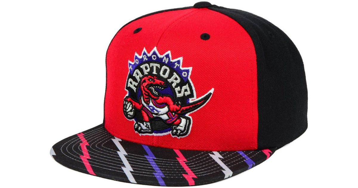 d4b1b2ffb78 Lyst - Mitchell   Ness Toronto Raptors Winning Team Snapback Cap in Red for  Men