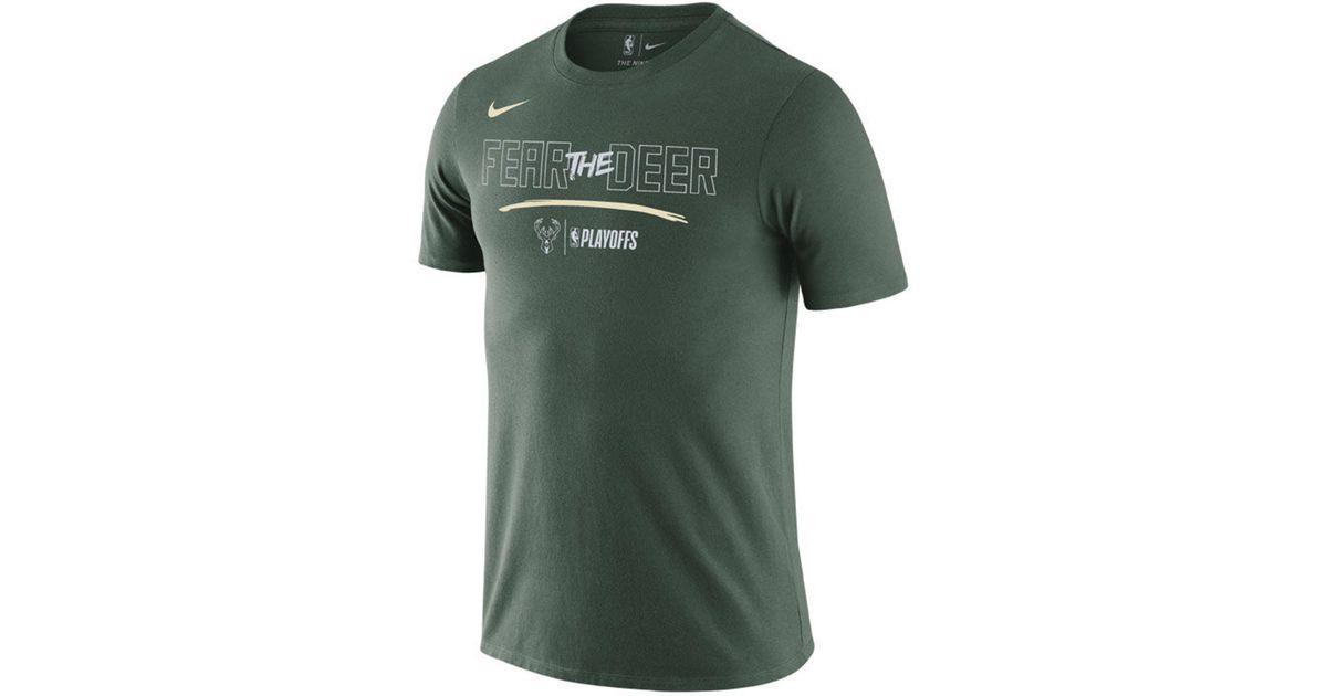 e2973b07b23 Nike Milwaukee Bucks Nba Strength Playoff T-shirt in Green for Men - Lyst