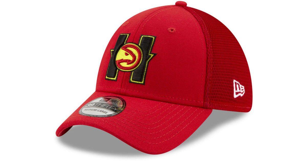 premium selection 93dd3 e9729 Lyst - KTZ Atlanta Hawks Back Half 39thirty Cap in Red for Men