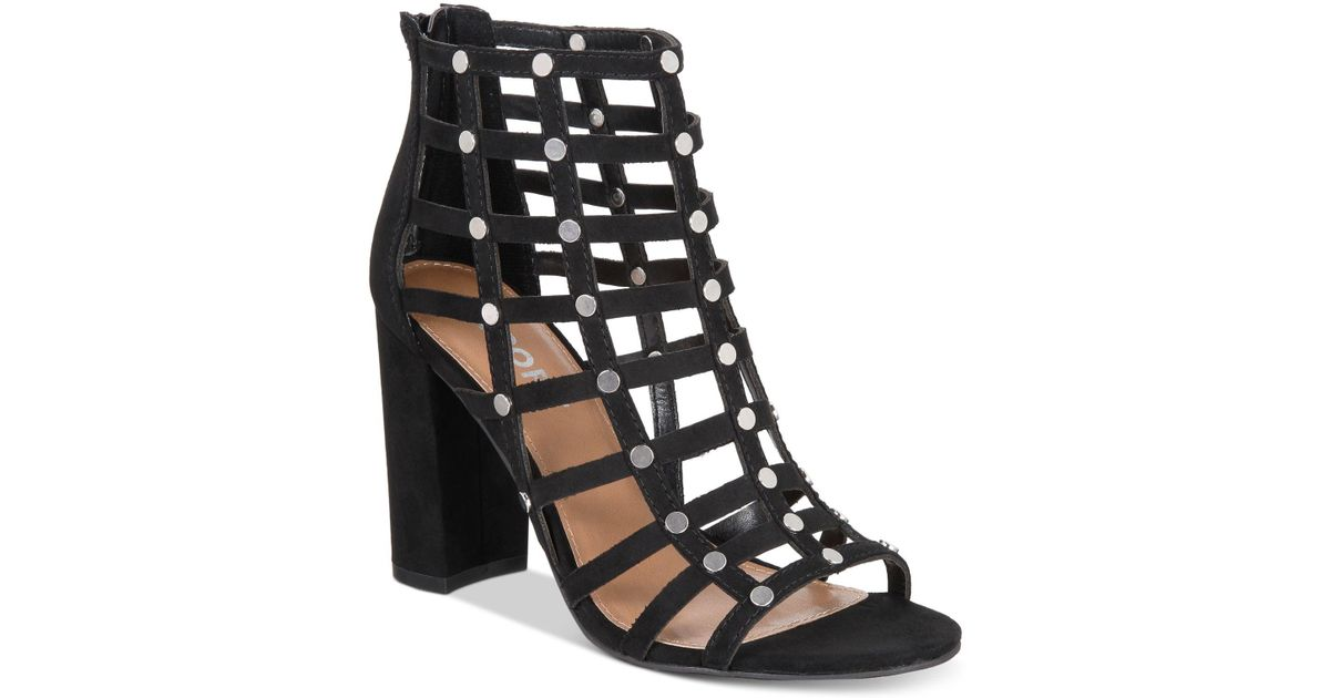 fc7c535ef8bc22 Lyst - Report Wesley Caged Sandals in Black