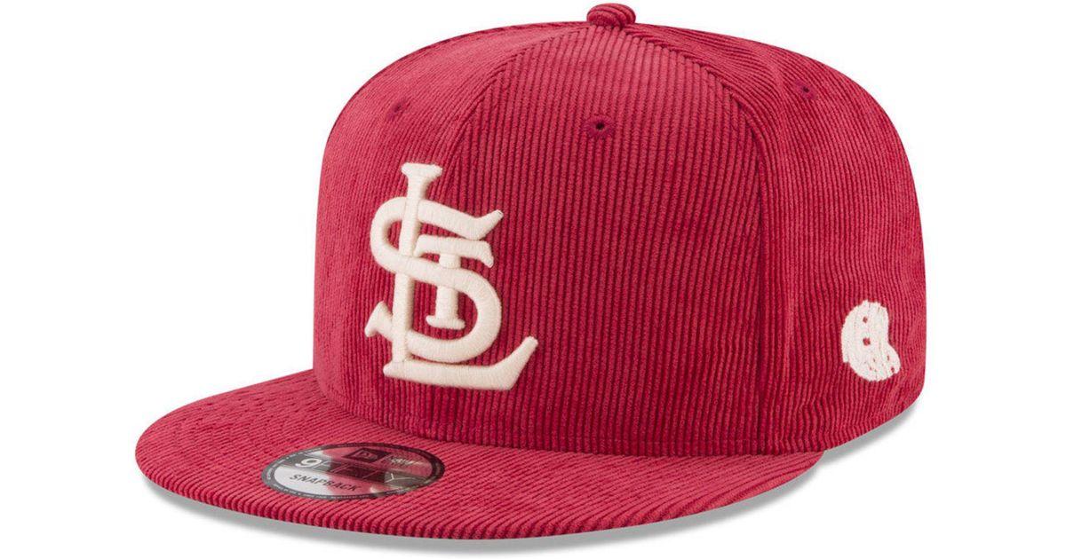 buy online eca74 348b5 Lyst - KTZ All Cooperstown Corduroy 9fifty Snapback Cap in Red for Men