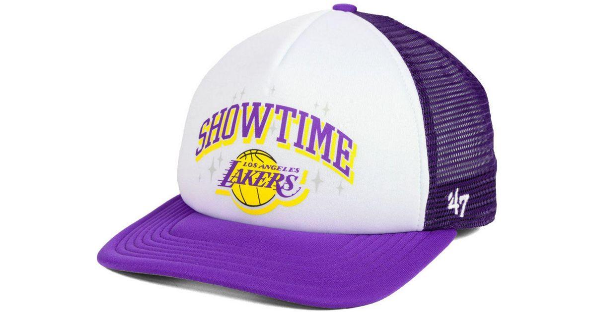 459f07c0bba Lyst - 47 Brand Los Angeles Lakers Region Mesh Mvp Cap in Purple for Men