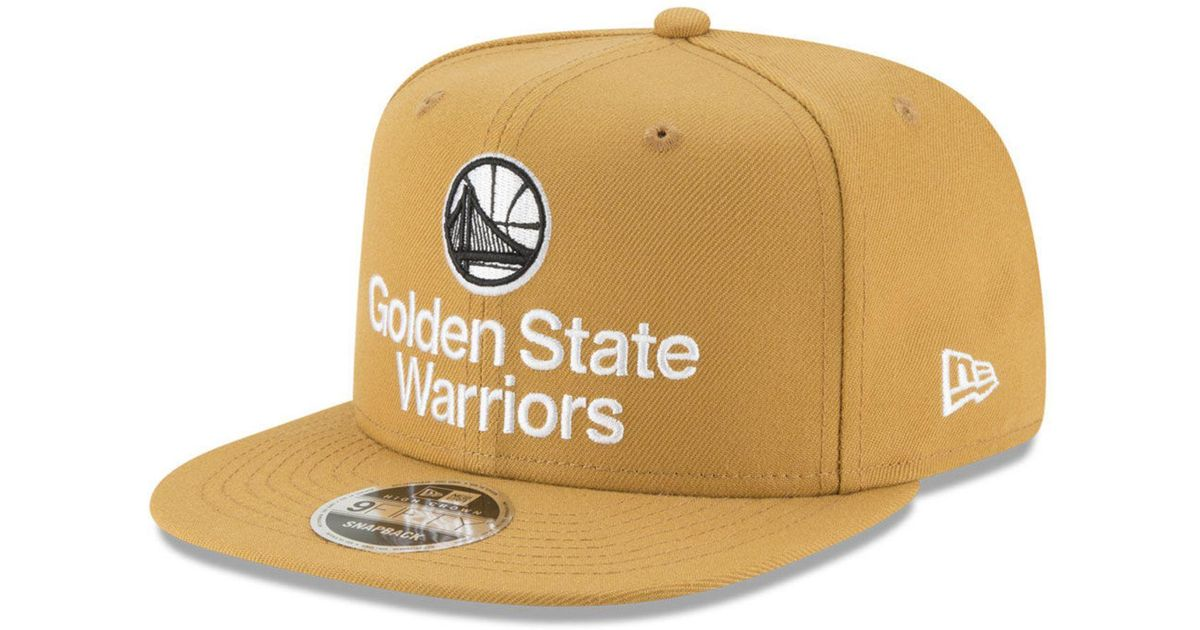 official photos 75976 93b24 ... store lyst ktz golden state warriors retro basic 9fifty snapback cap  for men ebfcd 06976