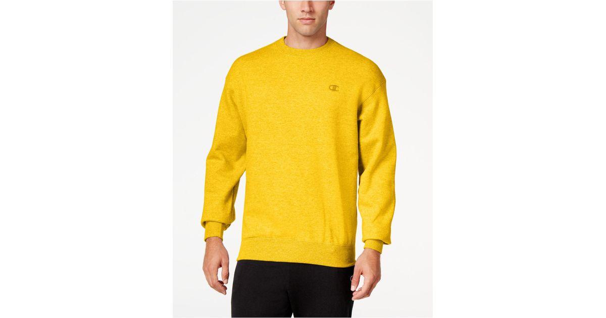 Men's For In Champion Powerblend Sweatshirt Fleece Men Yellow Lyst kXiOZTuP