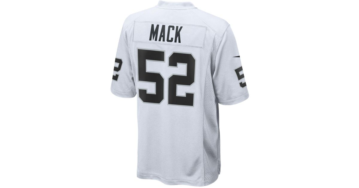 Lyst - Nike Men S Khalil Mack Oakland Raiders Game Jersey in White for Men  - Save 62.0% 352c1973c