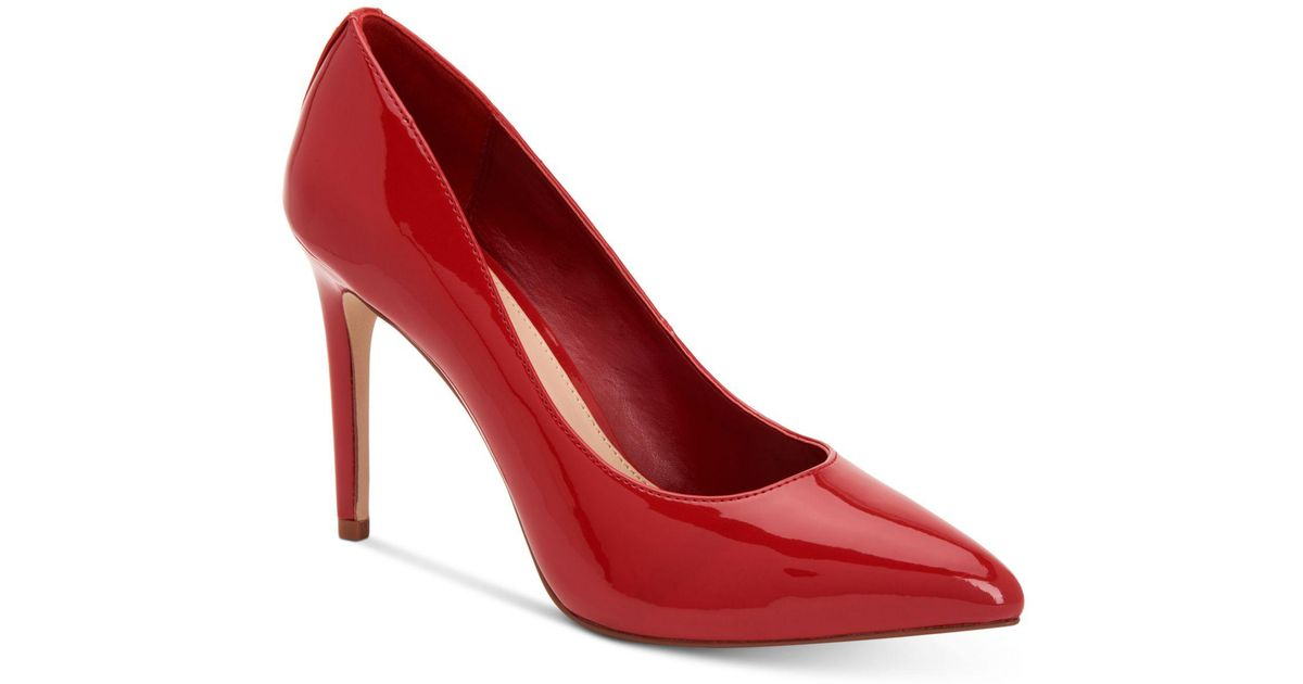 8ce70b57799 Lyst - BCBGeneration Heidi Leather Pump in Red