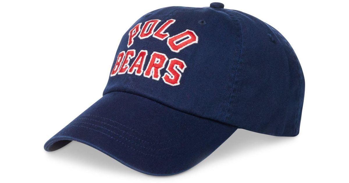 82ca78da Lyst - Polo Ralph Lauren Polo Bear Baseball Cap in Blue for Men