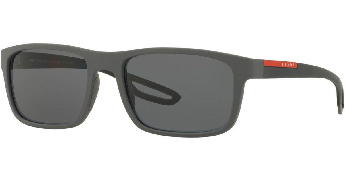 a9e4efc60cf Lyst - Prada Polarized Sunglasses