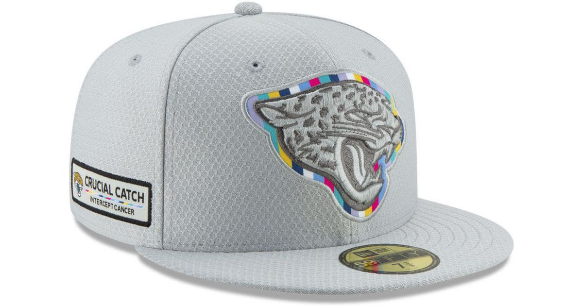 3df1b3973ed Lyst - Ktz Jacksonville Jaguars Crucial Catch 59fifty Fitted Cap in Gray  for Men