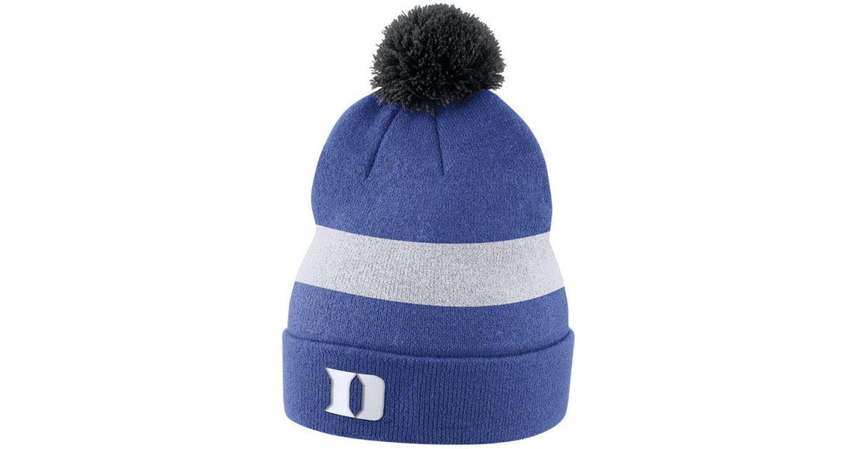 separation shoes 25866 b4ddb Lyst - Nike Duke Blue Devils Sideline Knit Hat in Blue