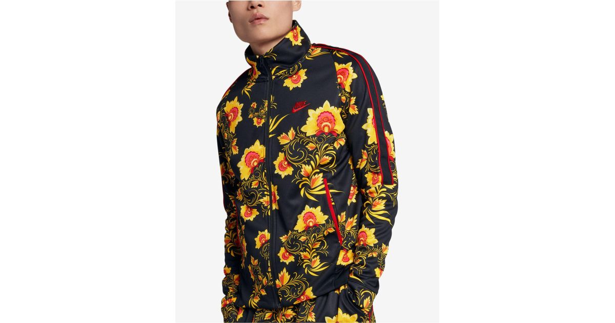 b01726cb08 Lyst - Nike Russian-floral Inspired Track Jacket in Black for Men