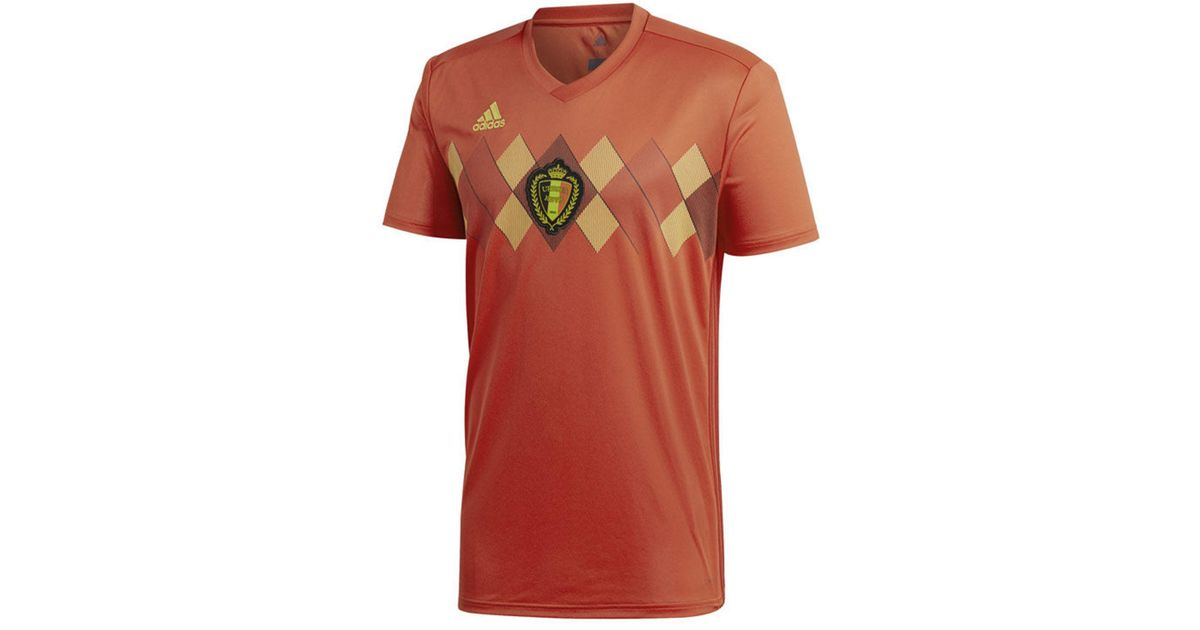 e43ea8ac369 Lyst - Adidas Belgium Soccer National Team Home Stadium Jersey in Red for  Men