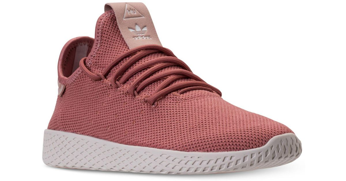 74932c24e3589 Lyst - adidas Women s Originals Pharrell Williams Tennis Hu Casual Sneakers  From Finish Line in Pink