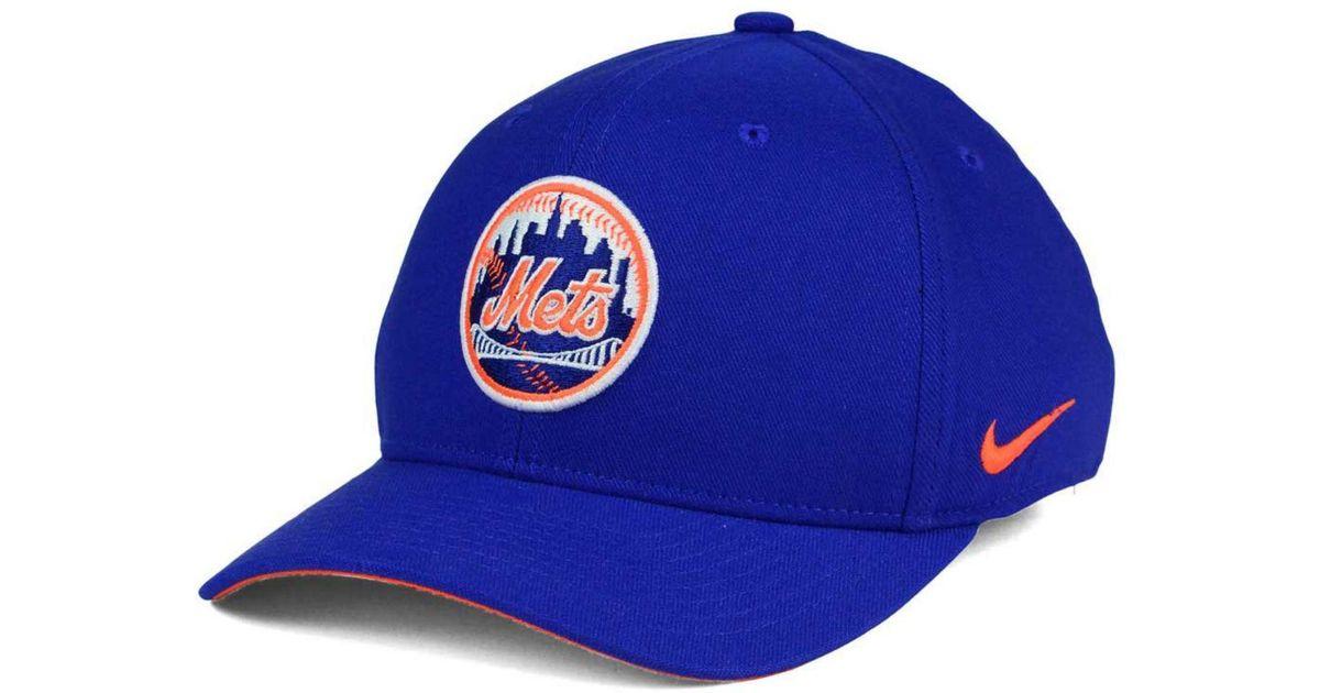 new styles e9b35 5da9a Lyst - Nike New York Mets Ligature Swoosh Flex Cap in Blue for Men