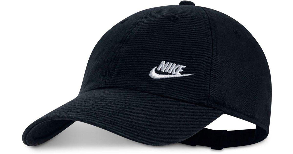 66d8627cc Nike - Black Futura Cotton Hat for Men - Lyst