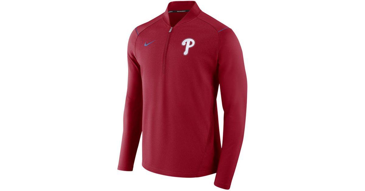 df597f544 Lyst - Nike Philadelphia Phillies Dry Elite Half-zip Pullover in Red for Men