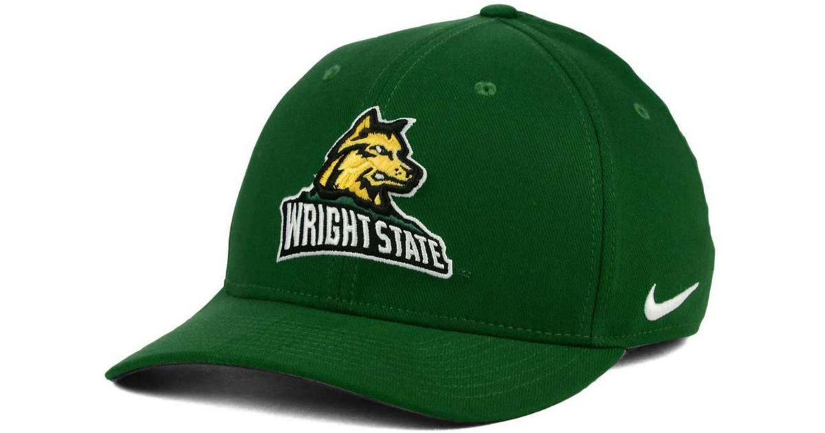 27848ce41 Lyst - Nike Wright State Raiders Classic Swoosh Cap in Green for Men