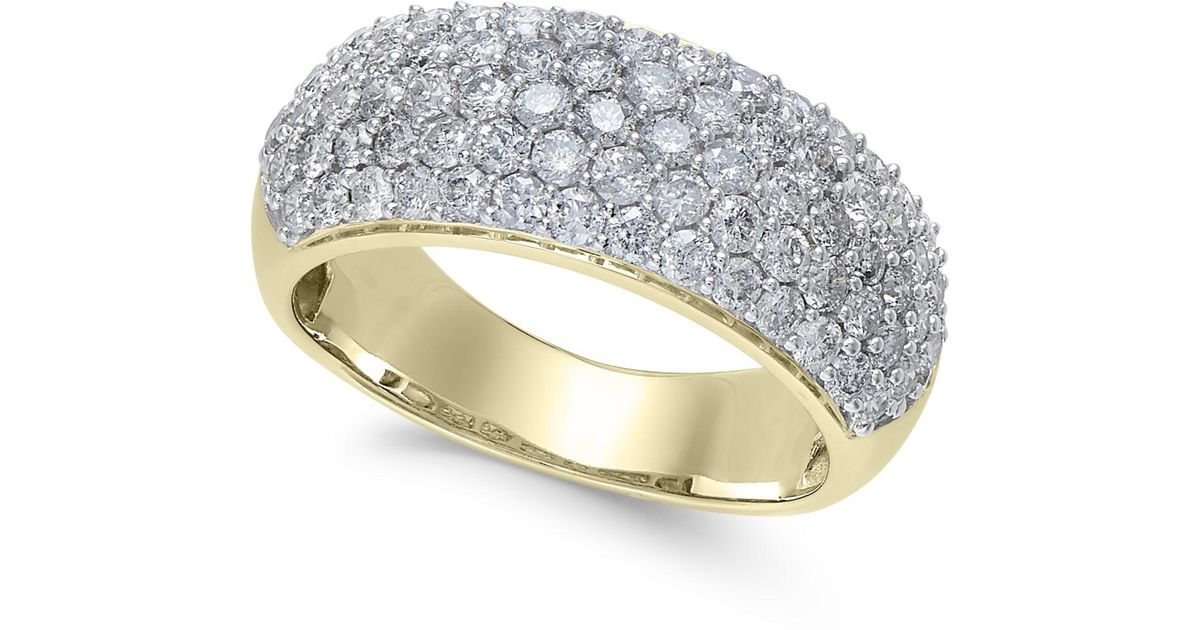a1958df5108f Lyst - Macy s Diamond Wide Pavé Band (1-1 2 Ct. T.w.) In 14k Gold Or White  Gold in Metallic