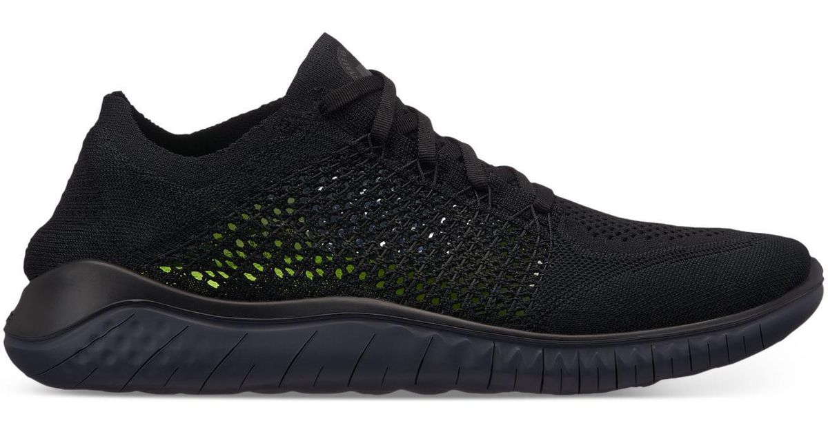 22dae9288ad8 Lyst - Nike Free Run Flyknit 2018 Running Sneakers From Finish Line in Black  for Men - Save 25%