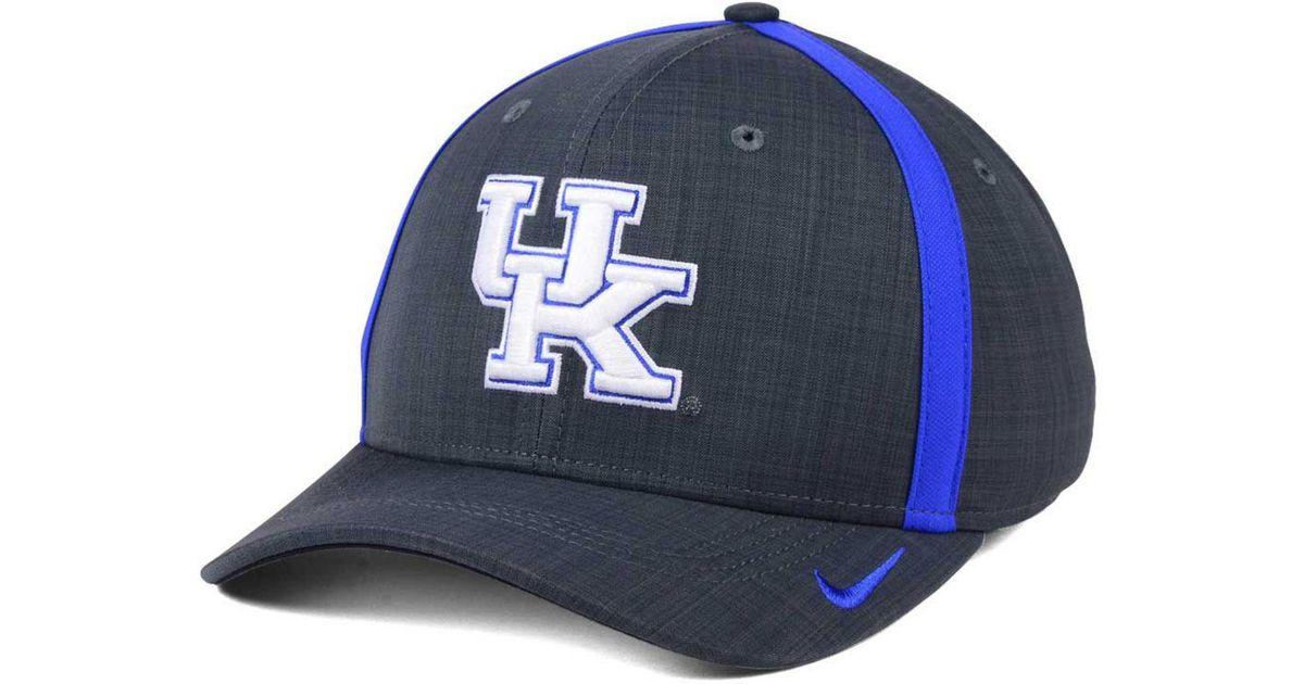 half off 6e495 e1022 Nike Kentucky Wildcats Aerobill Classic Sideline Swoosh Flex Cap in Blue  for Men - Lyst