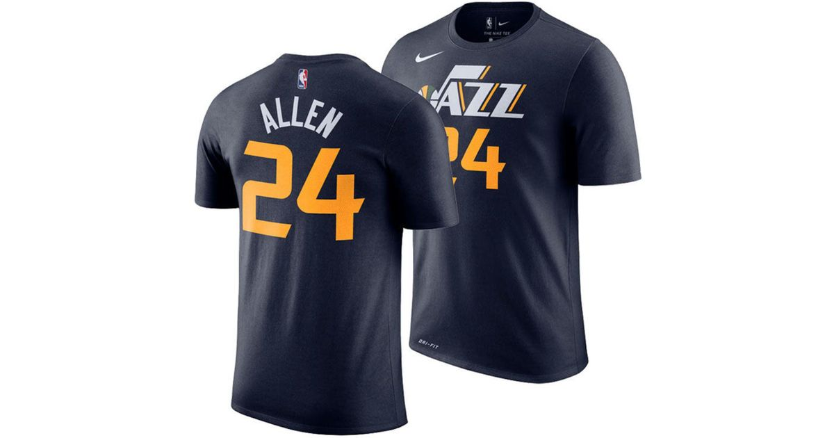 9ece9aa0cbc2 ... australia lyst nike grayson allen utah jazz icon player t shirt in blue  for men 7d386