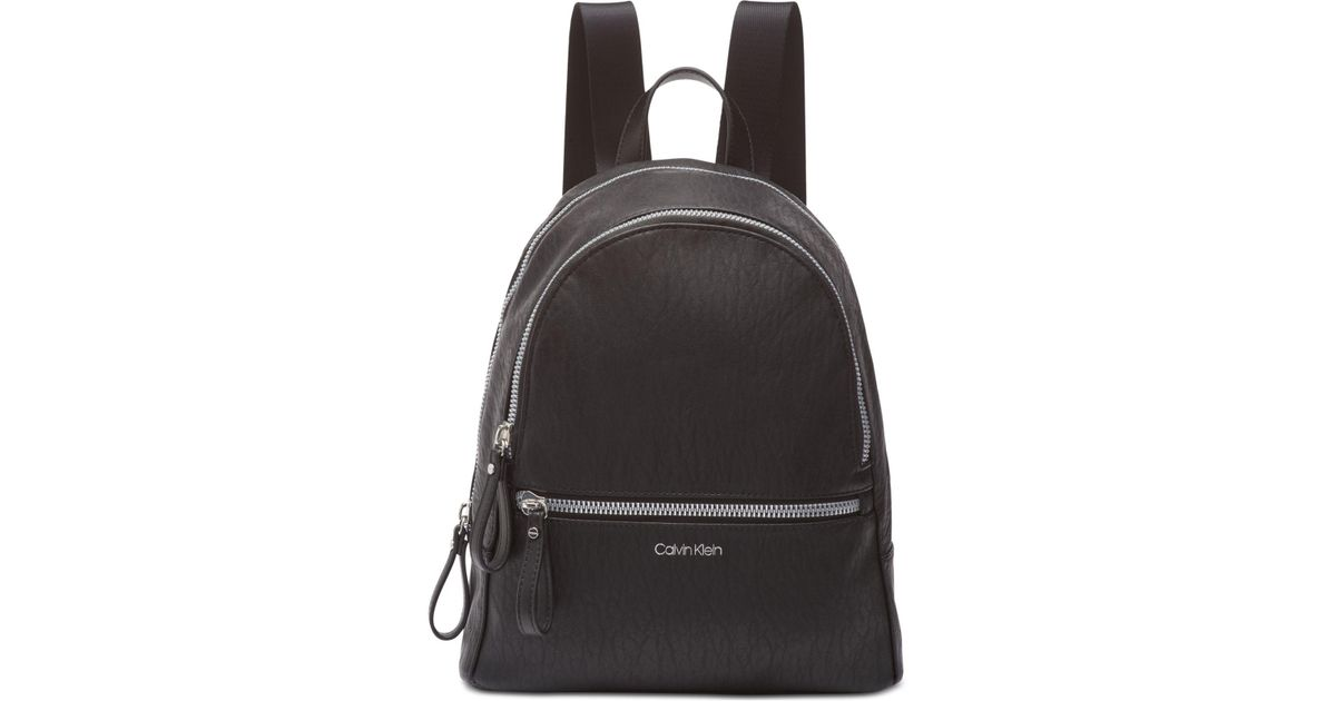 b4f7a8475dad Lyst - Calvin Klein Elaine Backpack in Black