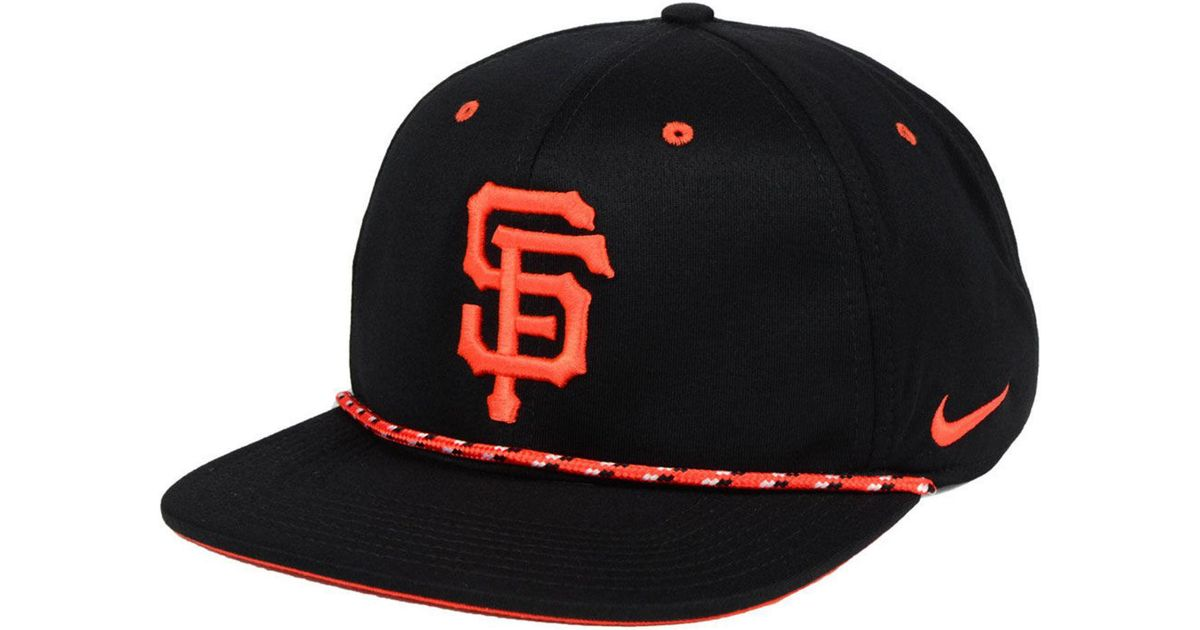 new styles 1cead 418d9 Lyst - Nike San Francisco Giants String Bill Snapback Cap in Black for Men