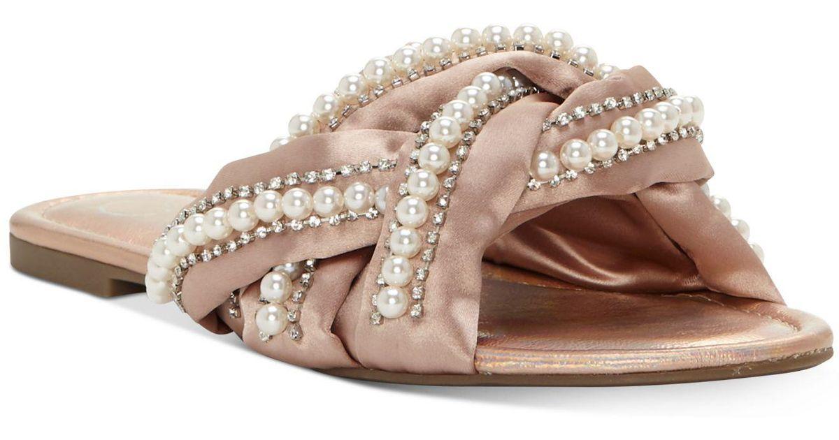 6fc37aaea3c Lyst - Jessica Simpson Rhondalin Braided Flat Sandals in Natural