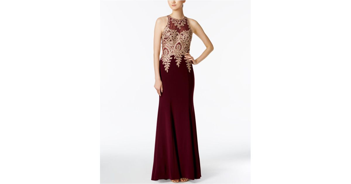 eedd5af6cce0 Xscape Floral-lace Mermaid Gown in Red - Lyst