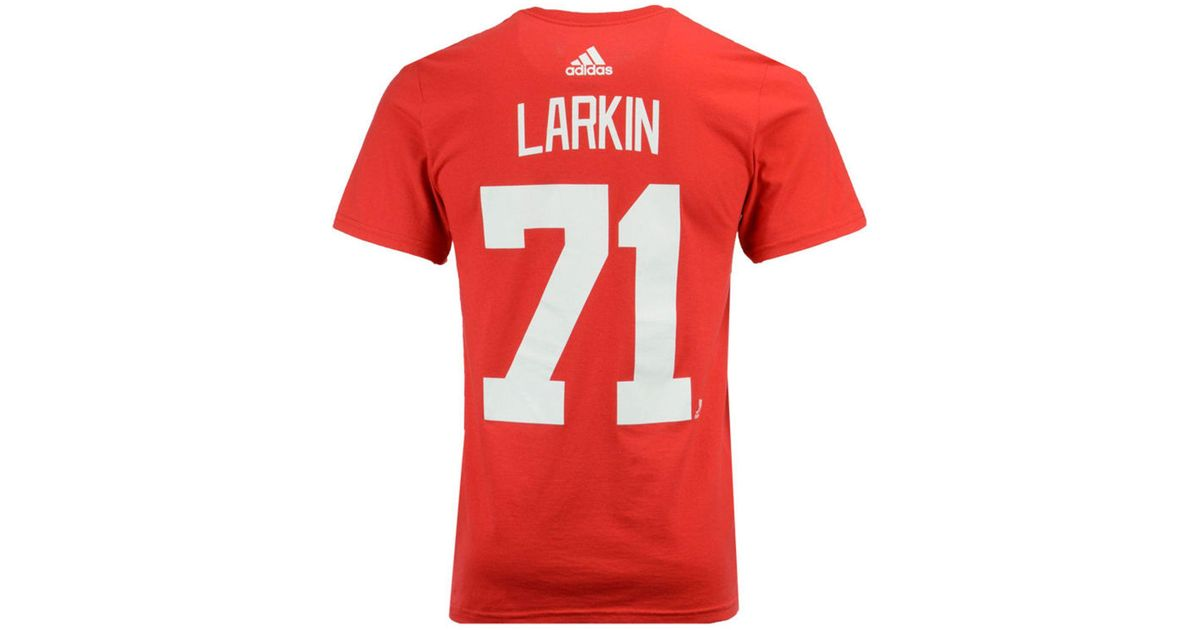 947f4c057 Lyst - adidas Dylan Larkin Detroit Red Wings Silver Player T-shirt in Red  for Men