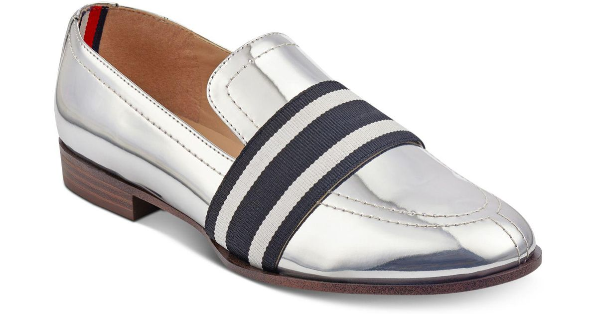 27a50e2bd Lyst - Tommy Hilfiger Ignaz Loafers in Metallic