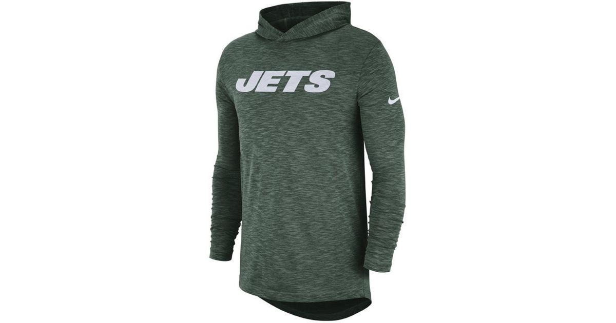 4f748a345 Lyst - Nike New York Jets Dri-fit Cotton Slub On-field Hooded T-shirt in  Green for Men