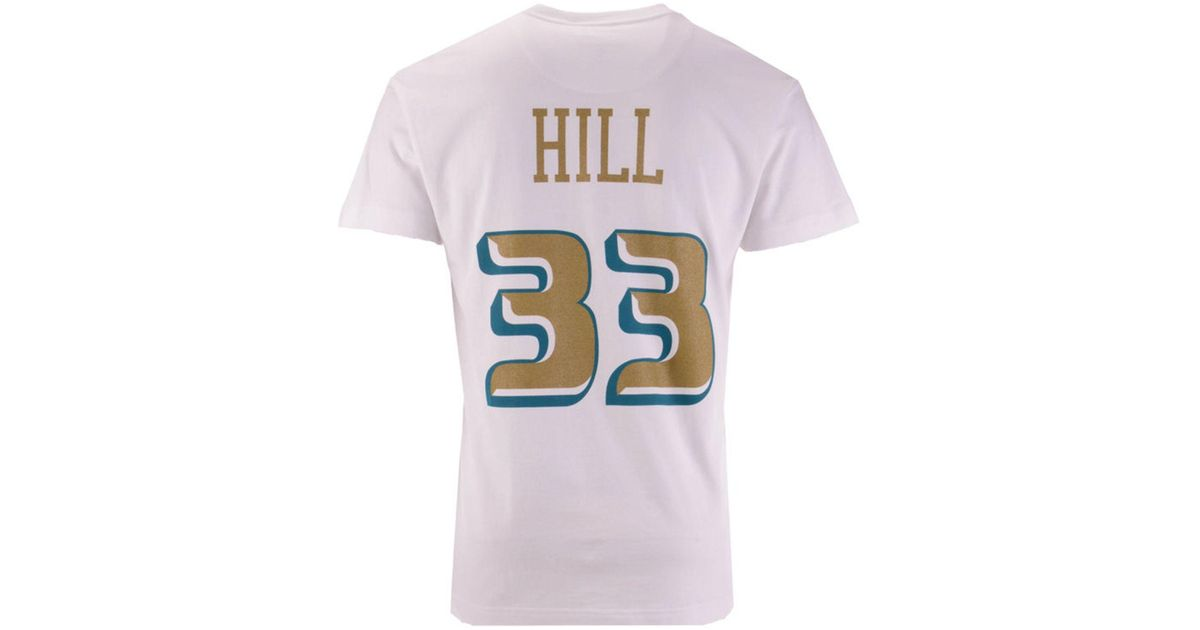 finest selection 93daa 5cf1e Mitchell & Ness - Multicolor Grant Hill Detroit Pistons Gold Collection  Name And Number T-shirt for Men - Lyst