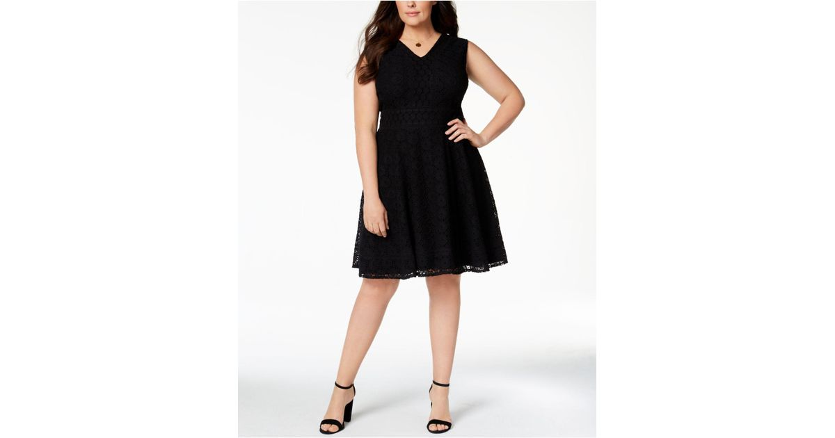 e8ca857fb8831 Lyst - Charter Club Plus Size Lace Fit & Flare Dress, Created For Macy's in  Black