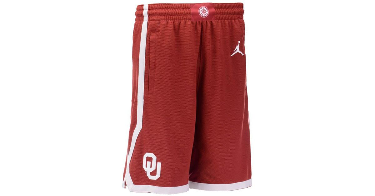 Lyst - Nike Oklahoma Sooners Replica Basketball Shorts 2018 in Red for Men f93a3ad168f5