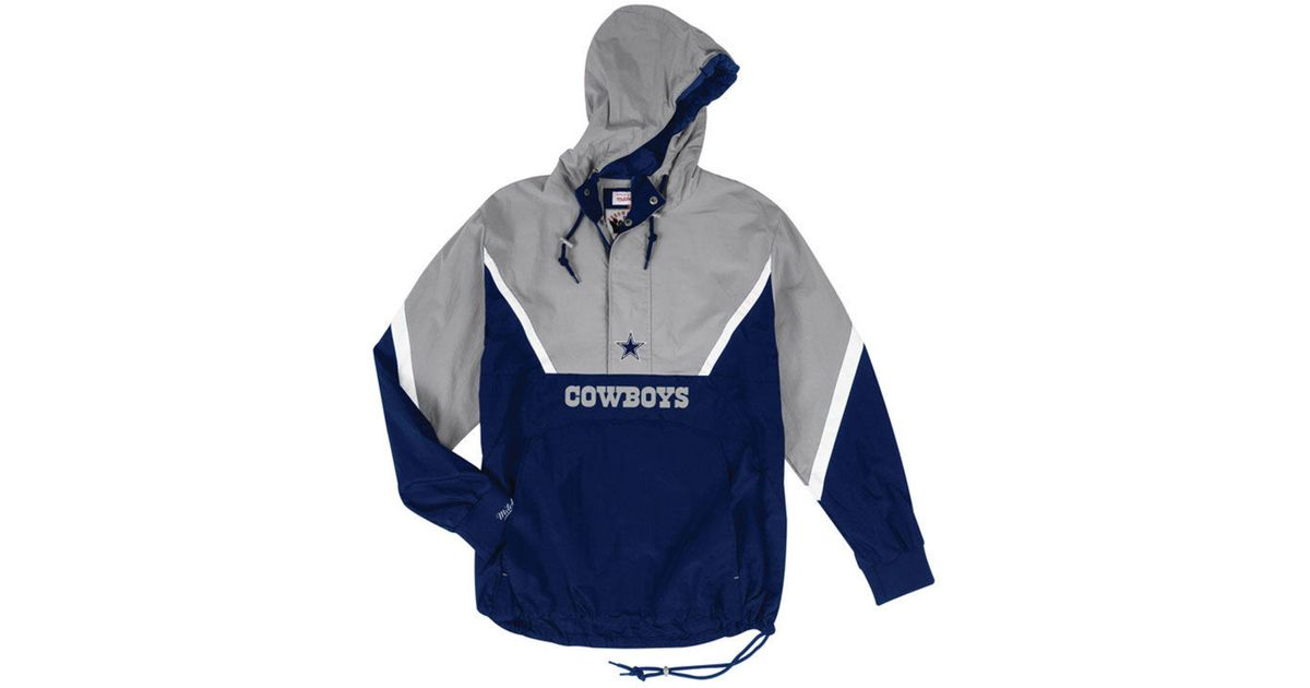 366c0fc3860 Mitchell & Ness Dallas Cowboys Half-zip Anorak Jacket in Blue for Men - Lyst