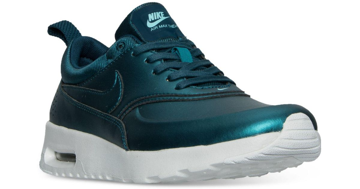 b01188eb72 Lyst - Nike Women's Air Max Thea Se Running Sneakers From Finish Line in  Blue